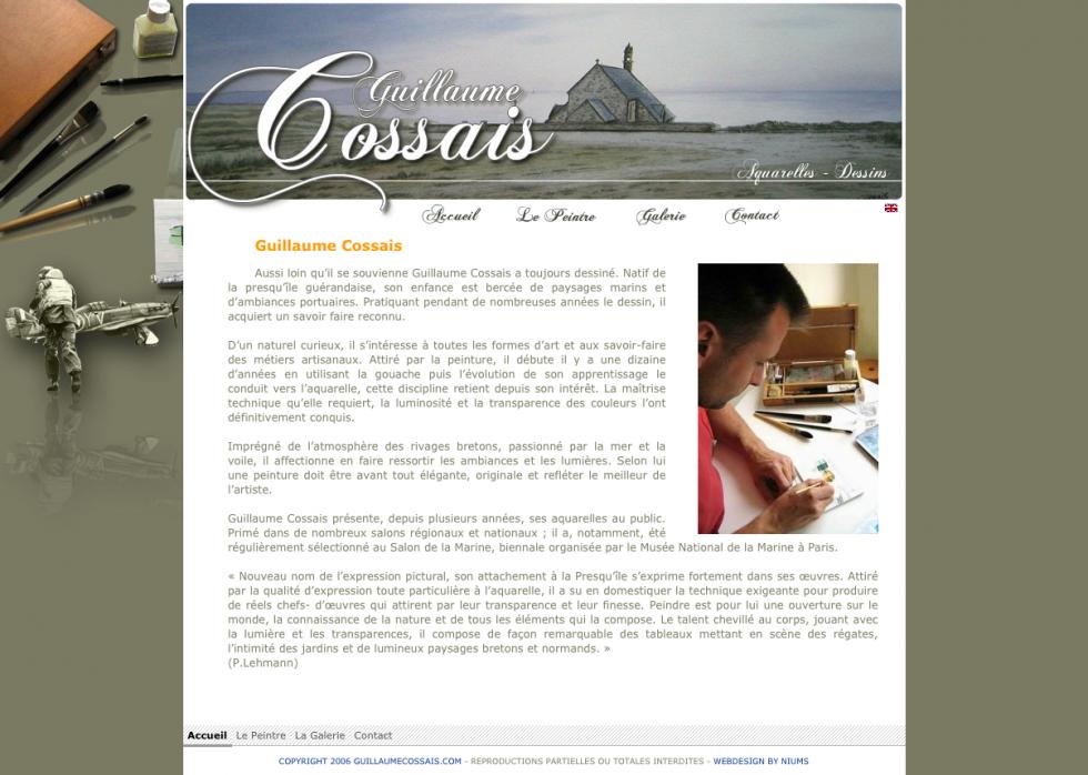 Guillaume Cossais - Le peintre